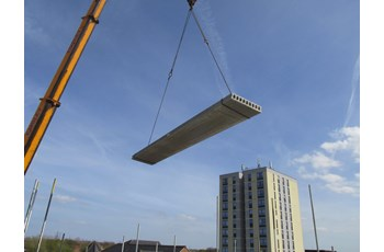 Hollowcore on a Crane